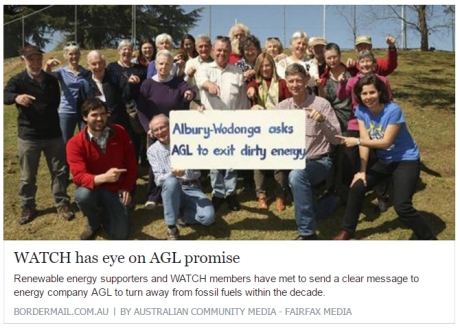 Border Mail article: WATCH has eye on AGL promise